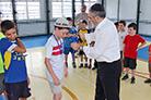 Futebol com pais e alunos na Maguen Avraham